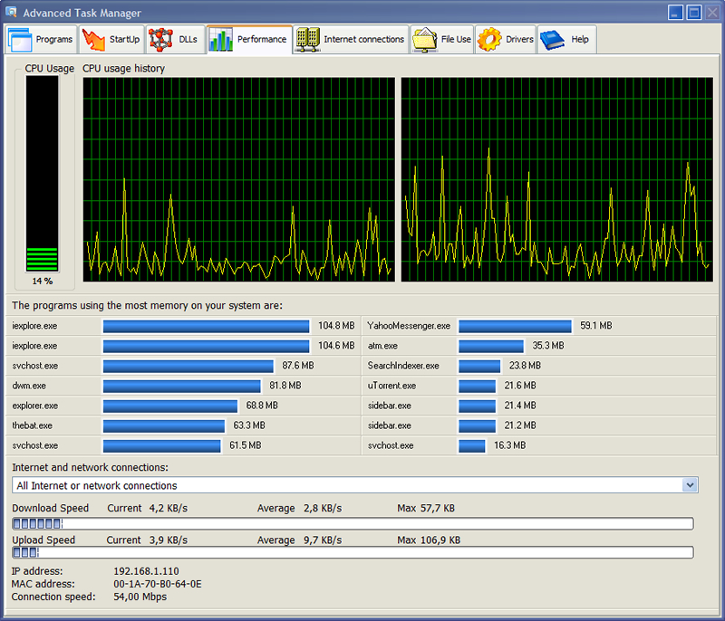 advanced task manager screenshot