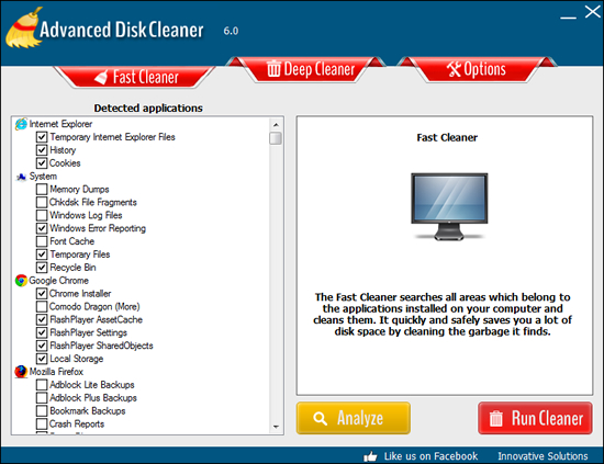 advanced disk cleaner screenshot